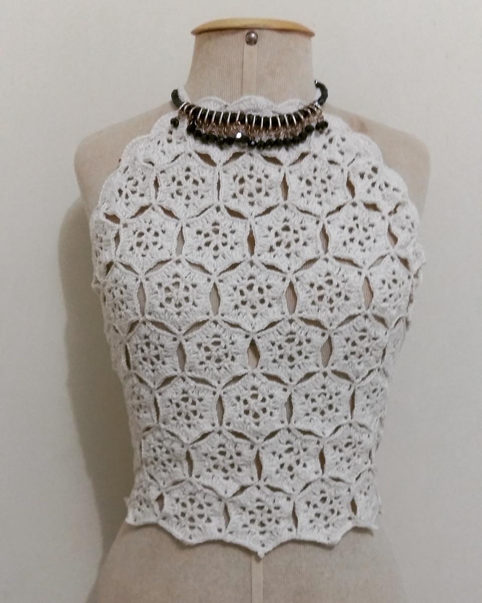 cropped frente unica cropped em croche Swimwear Styles